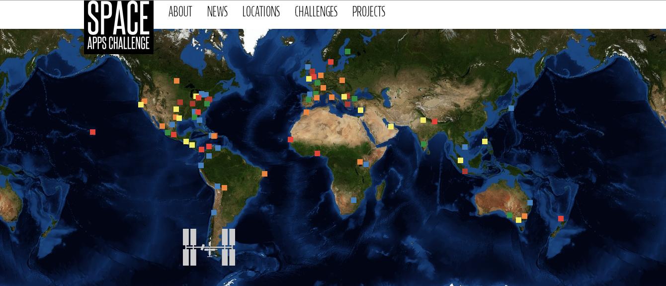 NASA Space Apps Challenges, capture d'écran