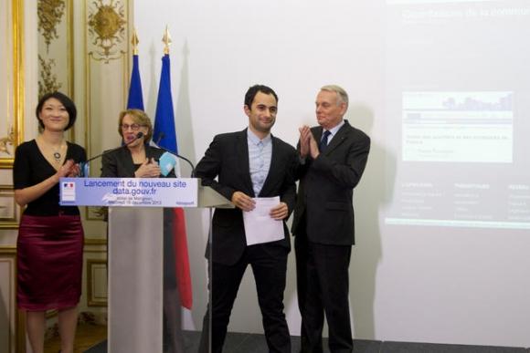 OKF Fr était représenté lors du lancement de data.gouv.fr. Crédit photo : Yves Malenfer/Matignon