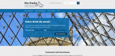 copie d'écran page d'accueil madada